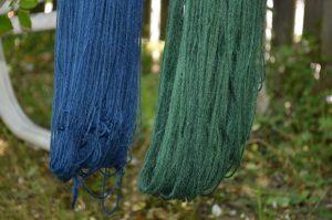 Indigo-Wolle