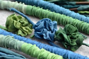 Seiden-Blumen-blau